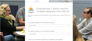 Image and Link of Application for Continuing Year 2 Teachers